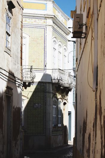 Tight alleys in Olhao Portugal Hello World Taking Photos Enjoying Life Light And Shadow Algarve Olhao Sunny Portugal