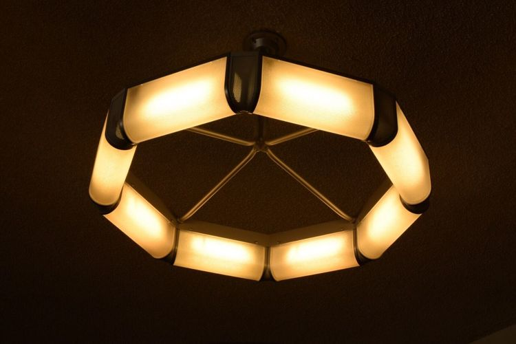 Illuminated Lighting Equipment Electricity  No People Low Angle View Lamp Shade  Modern Technology Indoors  Close-up Togomurano Ube-shi,Japan