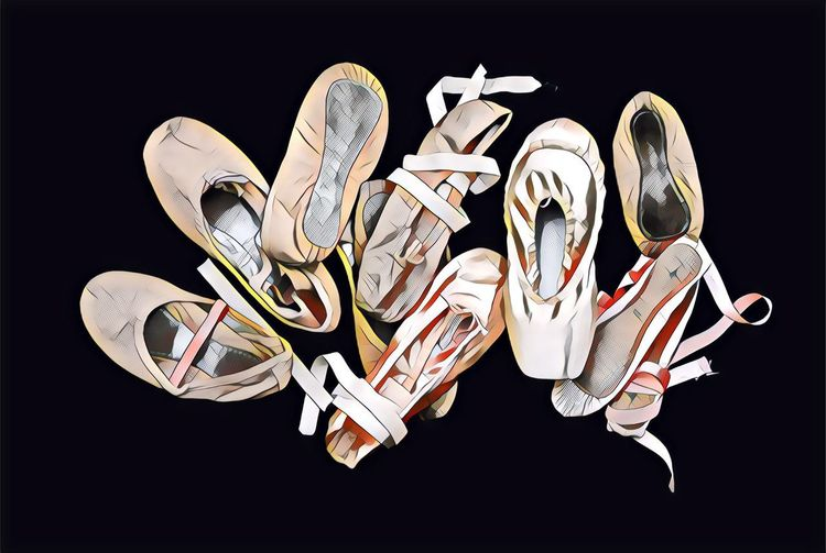 Ballet shoes drawing Ballet Shoes EyeEm Selects Black Background No People Jewelry Indoors  Creativity Studio Shot Variation Pattern Multi Colored Art And Craft Positive Emotion Animal Arts Culture And Entertainment Close-up Love Emotion Representation Choice Heart Shape Silver Colored