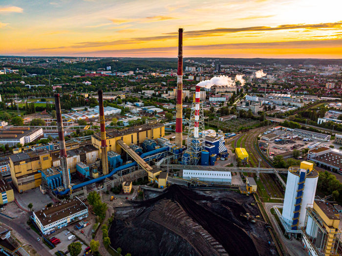 Coal power station in gdansk