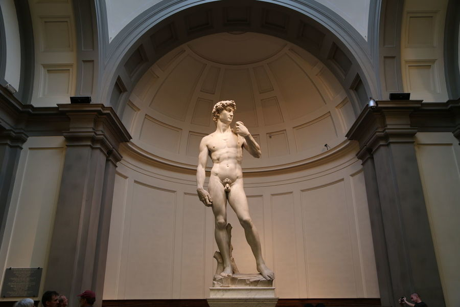 David Florence Italy Accademia Architectural Column Architecture Art And Craft Building Exterior Built Structure Day History Human Representation Low Angle View Male Likeness Michelangelo's David Museum No People Outdoors Renaissance Sculpture Statue Travel Travel Destinations