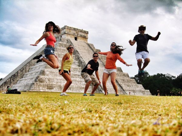 Chichen Itza Chichenitza Chichen-Itzá Friends Friendship Happy Happy People Happiness Trip Cancun Culture Happyday New Years Resolutions 2016 THESE Are My Friends Feel The Journey 43 Golden Moments Funtimes