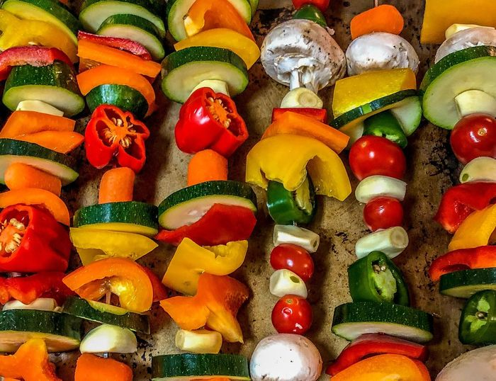 Full frame shot of colorful vegetables