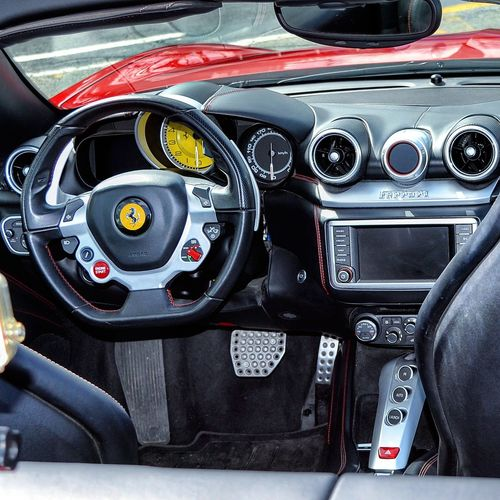 Car Dashboard Car Interior Old-fashioned Transportation No People Technology Speedometer Day Close-up Outdoors Ferrari Ferrari World Luxurious Car Luxury Luxurylifestyle