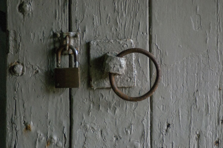 Stable Door Backgrounds Close-up Decay Decaying Door Door Handle Door Knob Grey Lock Lock And Hasp Loop Metal Old-fashioned Padlock Panel Peeling Paintwork Riding Security Stables Text Wood - Material Wooden Door