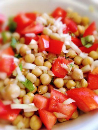 Chick Peas Chickpeas Tomato Salad Tomatoes Chickpea