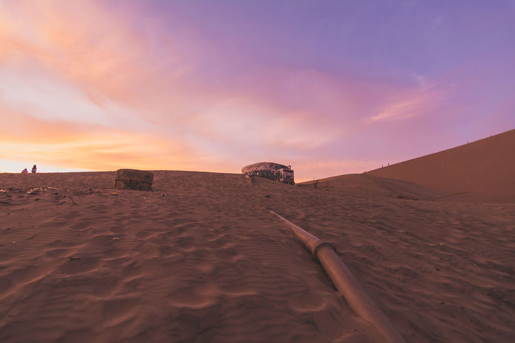 Copy Space Desert Dunes Dusk Epic Golden Hour Huacachina Huacachina, Peru Orange Pipeline Public Transportation Red Sand Sky Sunset Sunset_collection The Great Outdoors - 2016 EyeEm Awards