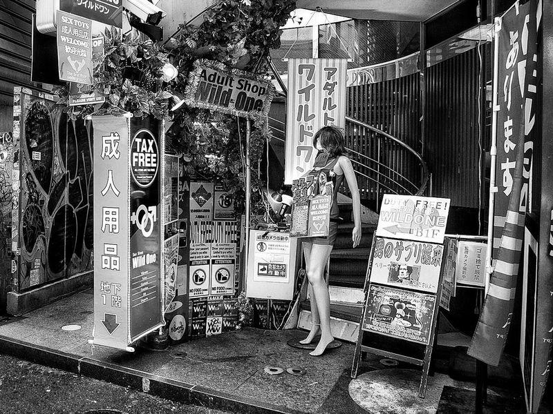 City Shop Display Manakin Street Snapshot On The Road B&w Street Photography Streetphotography_bw No People Shibuya 渋谷 Tokyo Japan