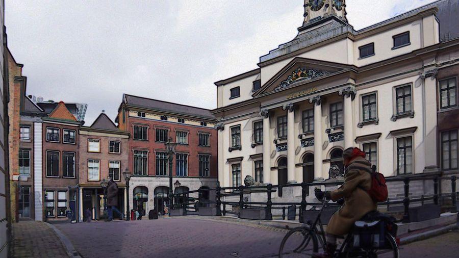 Dordrecht Historic City Netherlands Photo Art Dordrecht Bike Color Sunday Morning