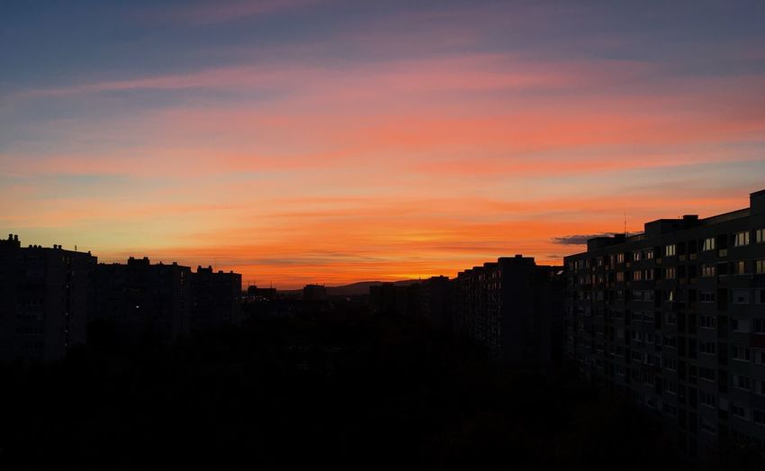 Home panorama☺️ Sunset Sky No People Budapest Zugló Hungary Nofilter Noedit Papoy✌🏽