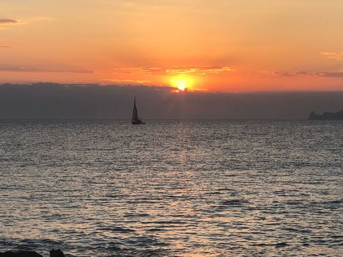 Formentera 🌞🌞 Sunset Sky Sea Water Orange Color Beauty In Nature Scenics - Nature
