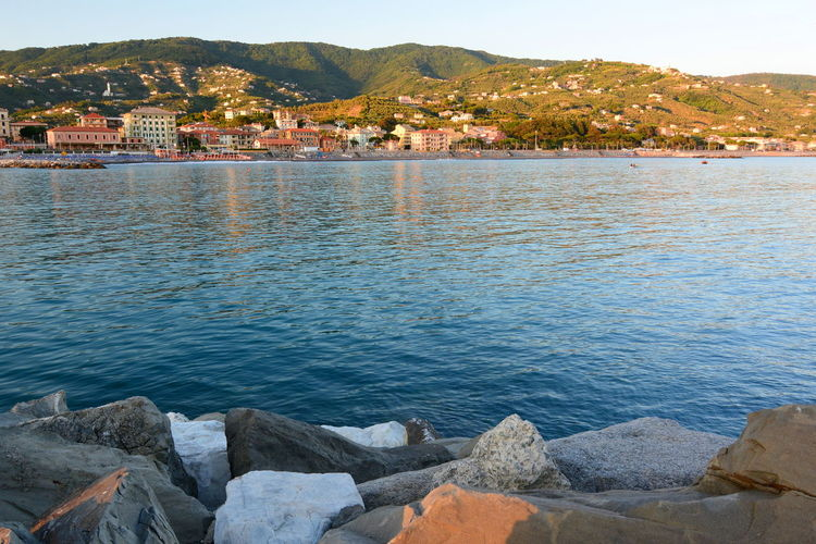 View from the marina. Lavagna. Liguria. Italy Coastline Lavagna Italy Liguria,Italy Mediterranean  Mediterranean Sea Beauty In Nature Italy Landscape Lavagna Liguria Nature No People Outdoors Scenics Sea Tigullio Tranquil Scene Tranquility Water