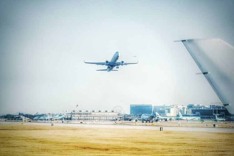 Korea Photos Airplane TakeOff Runway Airport Flying Taking Photos From An Airplane Window Landscape Light And Shadow Streamzoofamily