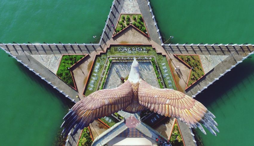 dataran Helang Djiphantom3pro Djiphantom Aerial View Aerialphotography Eyebird Topdown EyeEm Selects No People Architecture Built Structure Water Animal Travel Destinations Green Color Animal Themes Nature The Past Animal Wildlife Outdoors History High Angle View Day Ornate Art And Craft Sculpture Religion Marine