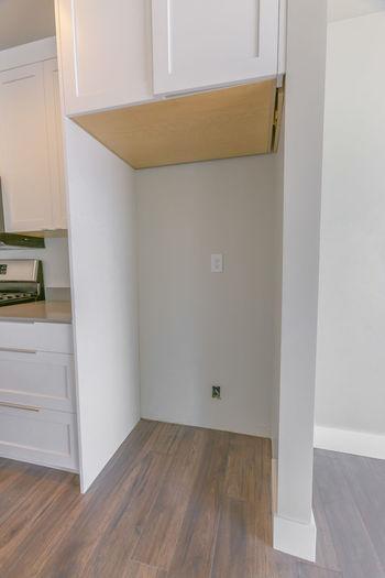View of wooden door at home
