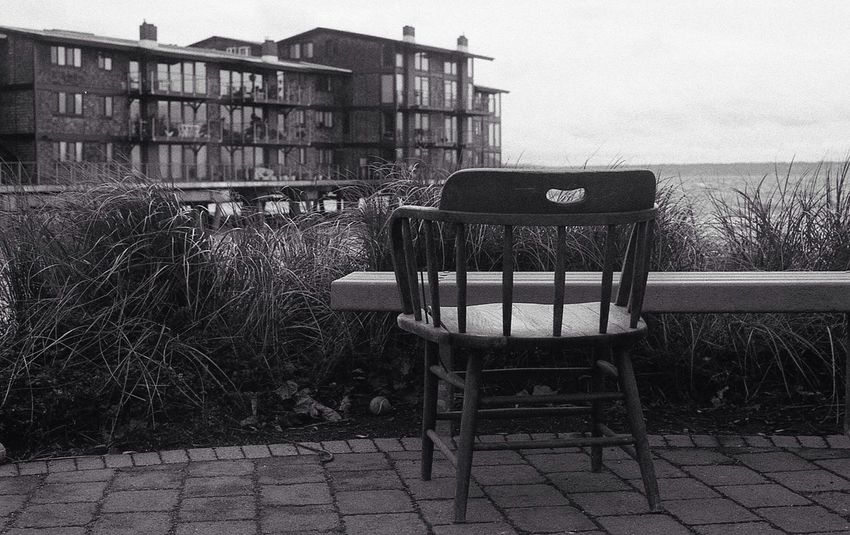 I thought this was a little odd location and position for this table and chair. Blackandwhite Leica Leica M6 Film Is Not Dead