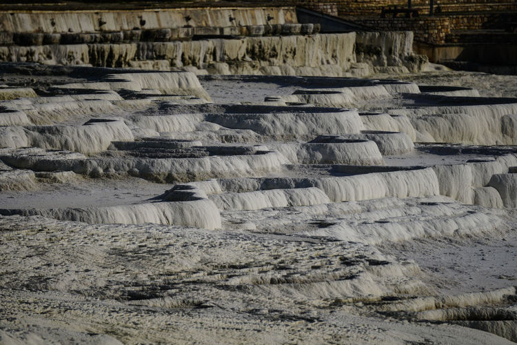 Travertine terrace formations at turkey