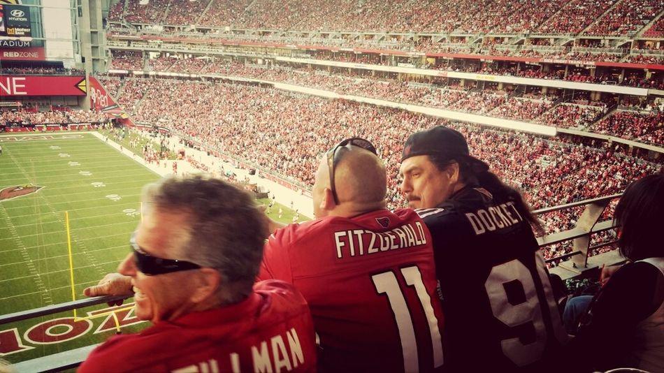 crazy cardinals fans. haha Cheering