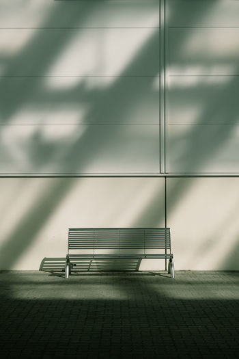 WINTERSUN Bench Sunlight The Week On EyeEm Tristesse Architecture Built Structure Day Indoors  Light And Shadow Minimalism Minimalobsession No People Shadow Sunlight And Shadow Capture Tomorrow