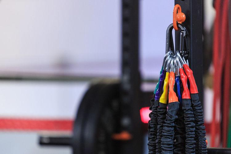 Detail shot of gym equipment