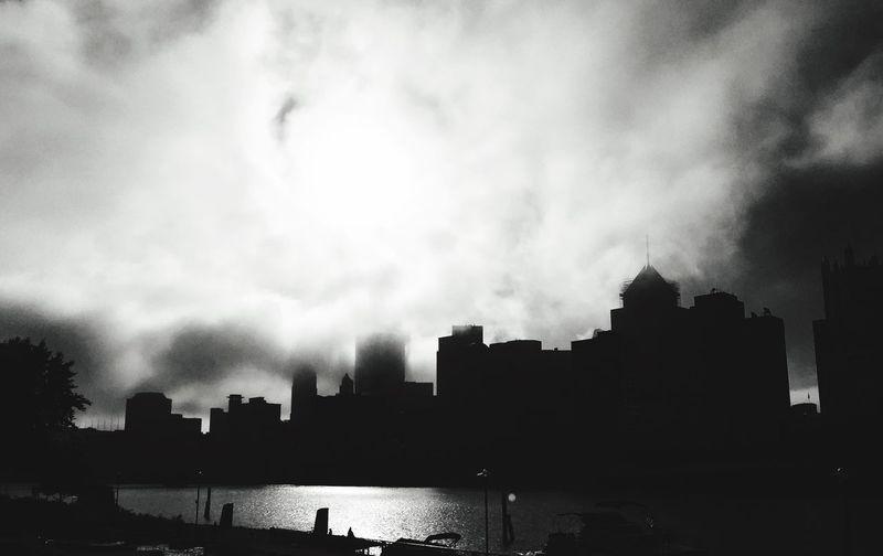 Blackandwhite City Architecture Monochrome Fog
