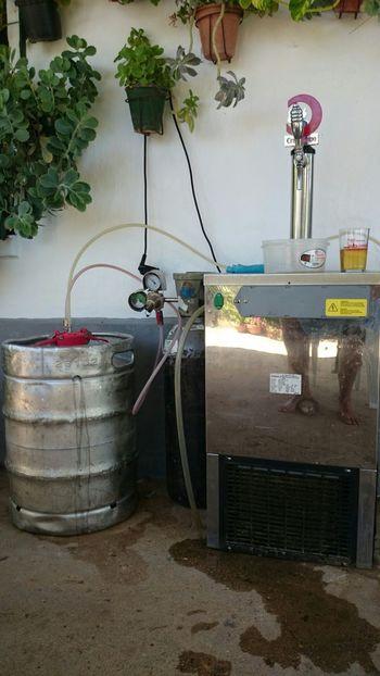 Veranito 2014. Queda inaugurada la temporada con mi grifo de cerveza. I Love Beer Somosfelices Streamzoofamily Disfruting