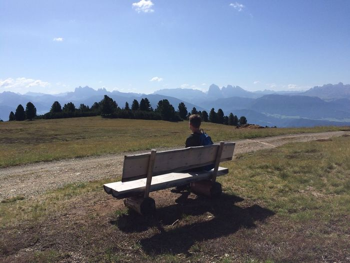 Sitting Sky Bench Mountain Real People Nature Leisure Activity My Best Photo My Best Photo