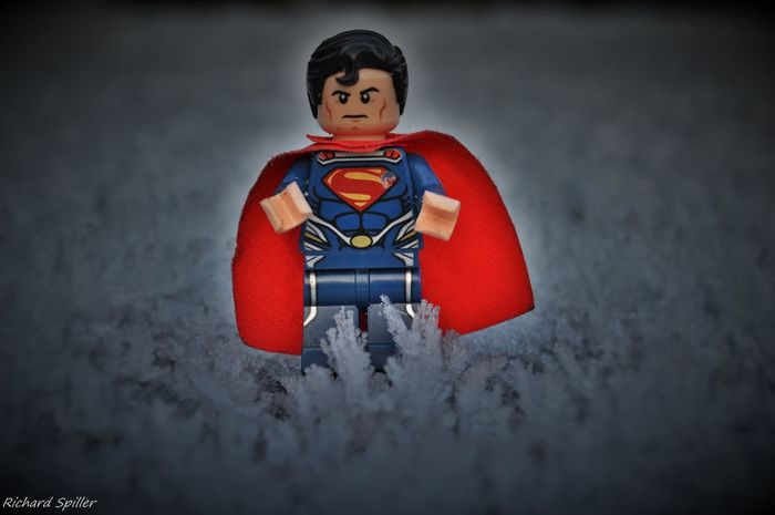 A Bit Of Fun Cape  Check This Out Cold Temperature Creativity Followforfollow Fun Hello Hello World Hope Ice LEGO Lego Minifigures Lego Time! Legophotography Likeforlike Man Of Steel My Photography Nikon Nikon D3200 Standing Super Hero Superman Toy Winter