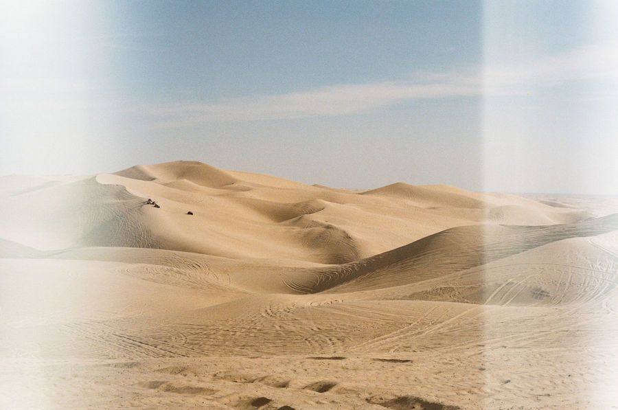 35mm 35mm Film Arid Arid Climate Arid Landscape Barren Brown California Clear Sky Copy Space Desert Extreme Terrain Film Photography FootPrint Grainy Imperial Sand Dunes Landscape Light Leak Natural Pattern Physical Geography Power In Nature Remote Sand Sand Dune Sunny Day