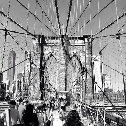 Ponte Di Broklyn Broklyn Bridge Biancoenero Blackandwhite New York