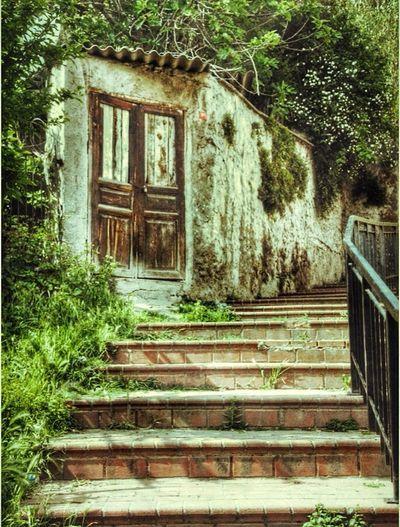 Hello World Hellooo Eyem !  In Istanbul Old Door stairs