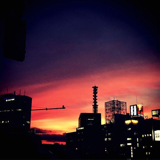 夕日 会社帰り Setting Sun Japan