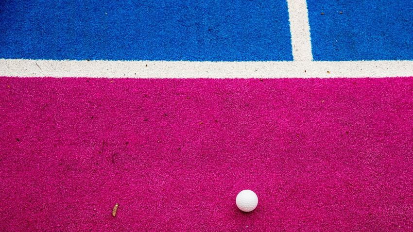 Fieldhockey No People Pink Pink Color Blue Sport Outdoors Competitive Sport Turnament LoveHockey Hockey Hockey Game Hockey Arena Hockeylife