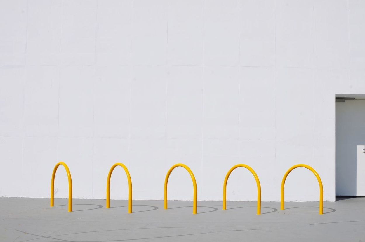 The Graphic City - Minimalism White Color White Background Auditorio Ibirapuera Oscar Niemeyer Repetition, Pattern, Architecture No People Yellow Day Outdoors The Graphic City