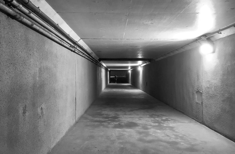 #black_and_white #vision #dark #eerie #pathway #tunnel_vision Black And White Gray Diagonal Lines Pipes Piping Tunnels Pathway Tunnel Vision Eerie In The Tunnel Pathways