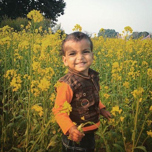 MAHI,field,yellow flowers,happiness,Ovel