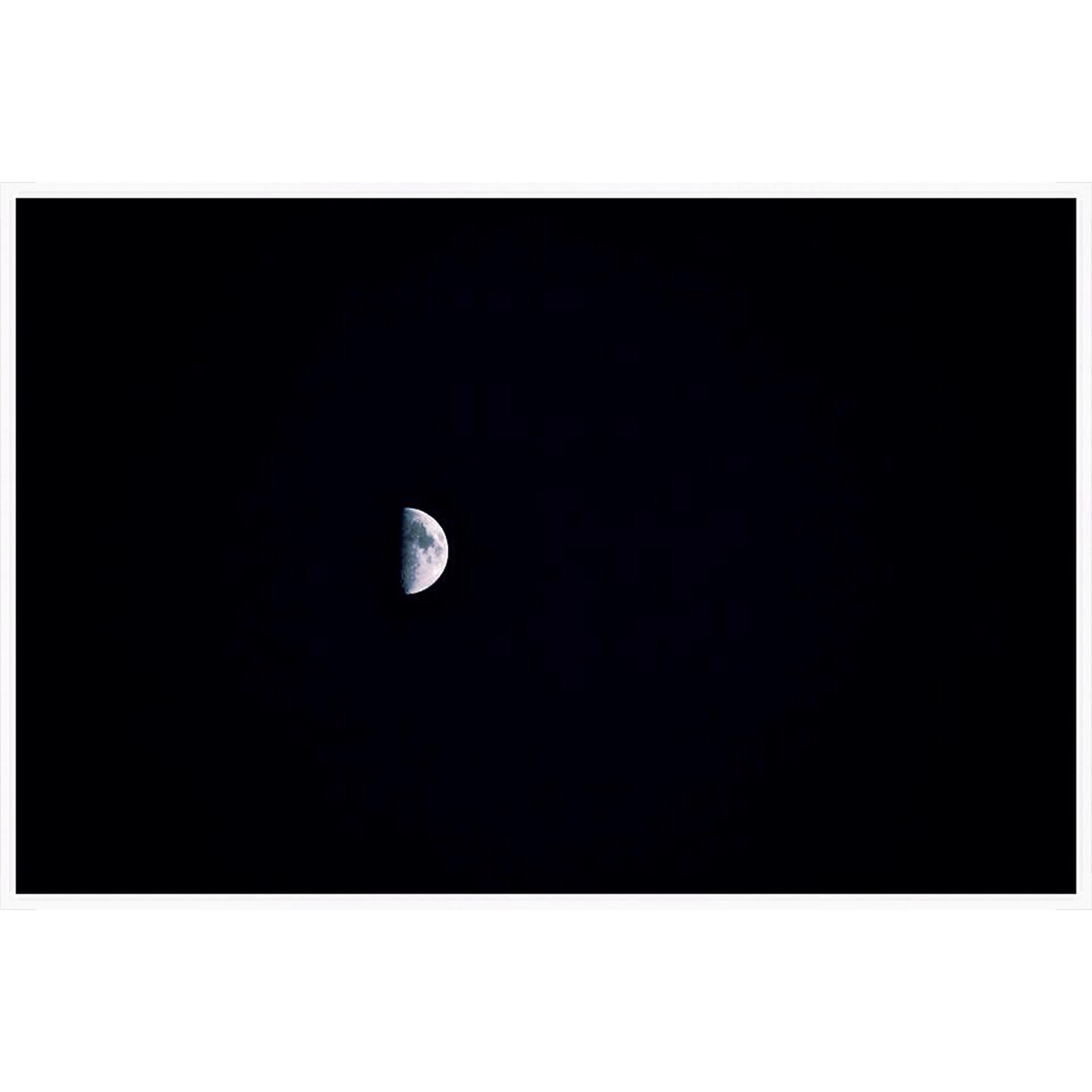 transfer print, moon, auto post production filter, copy space, night, astronomy, beauty in nature, nature, clear sky, planetary moon, tranquility, full moon, tranquil scene, low angle view, dark, scenics, moon surface, no people, idyllic, outdoors