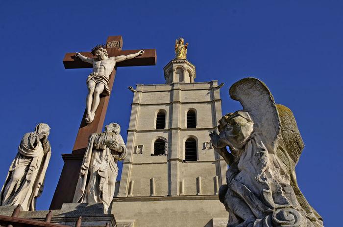 Avignon City CATHÉDRALE NOTRE DAME DES DOMS AVIGNON Christ Church Day France🇫🇷 No People Outdoors Religion Sculpture Sky Statue Travel Destinations