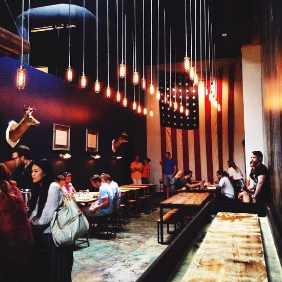 New restaurant with a neat design in Atlanta. LadyBird near the Beltline. Atlanta Beltline Restaurants Design