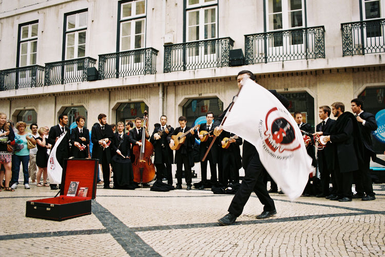 #urbanana: The Urban Playground 35mm Film Analogue Photography Portugal Architecture Building Exterior Celebration City Crowd Festival Group Of People Lisbon Men Outdoors