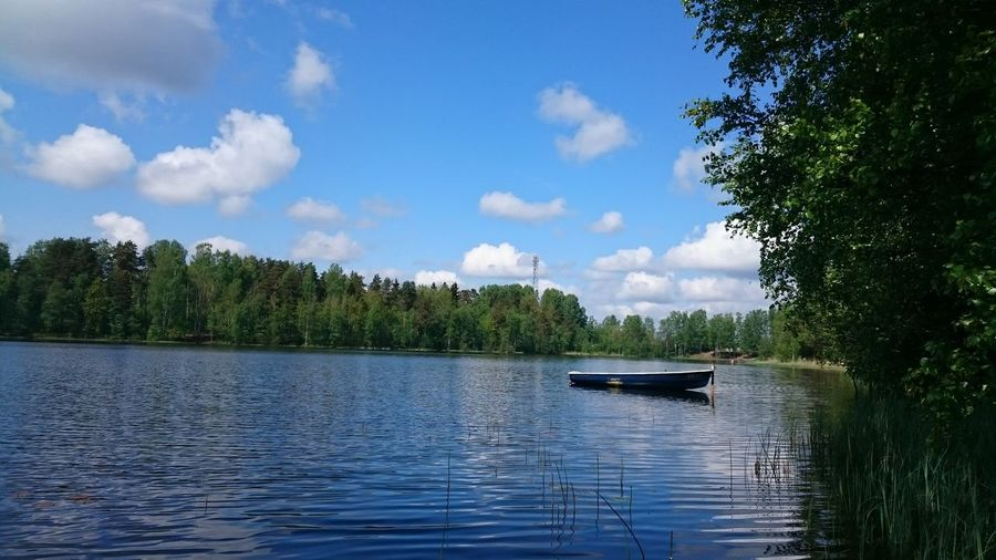 The picturesque Nature of the Leningrad Region Lake Nautical Vessel Day Cloud - Sky Beauty In Nature Scenics Tree No People First Eyeem Photo
