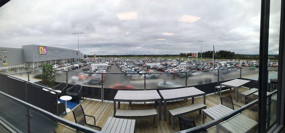 IKEA Cloud - Sky Cars Parking Lot Umeå 2016 Avion Outdoors Day