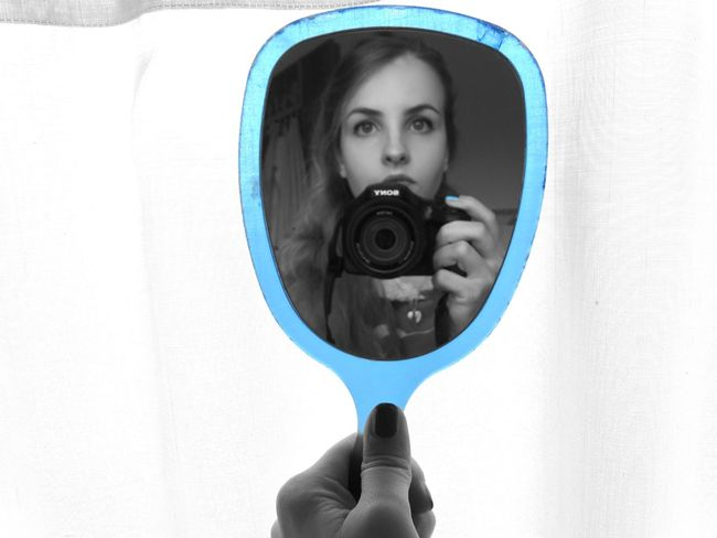 Autoportrait Blue Leisure Activity Me Mirror My Camera Personal Perspective Reflection Young Adult TakeoverContrast