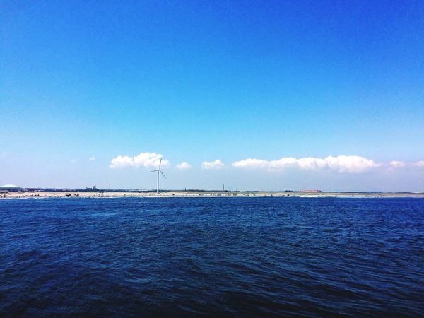 Sea And Sky Landscape_Collection IPhoneography Blue Sky Enjoying Life Sandy Beach