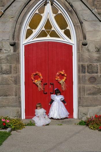 Children against door