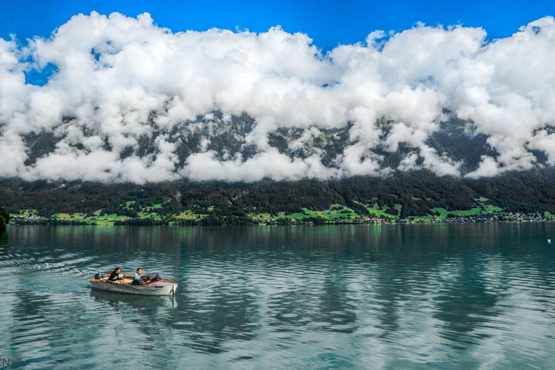 Cloudy Beauty In Nature Blure Water Boat Cloadss Cloud - Sky Clouds Clouds And Sky Day Lake Mountain Nature Outdoors Scenics Sky Swiss Water Water Lake Wter Lake