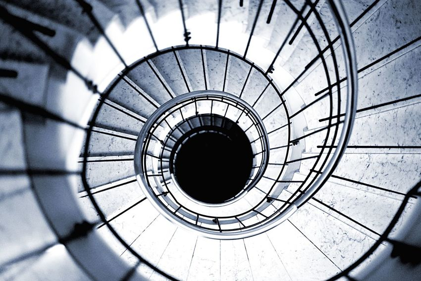 Staircase Architecture Built Structure Circle Railing Spiral Stairs No People Spiral Staircase Indoors  Day