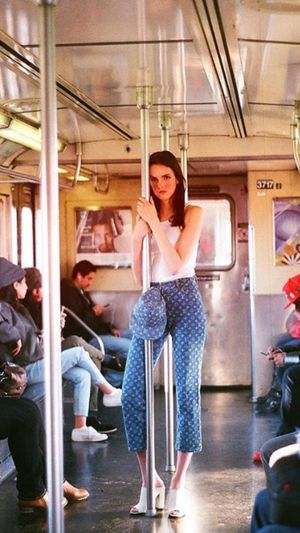 Niceoutfit Lv , #Trues #Jordans LV Sitting Full Length Young Adult Real People Lifestyles Casual Clothing Train - Vehicle Young Women Public Transportation Women Subway Train Young Men Leisure Activity Day Looking At Camera Men Togetherness Indoors  Adult People