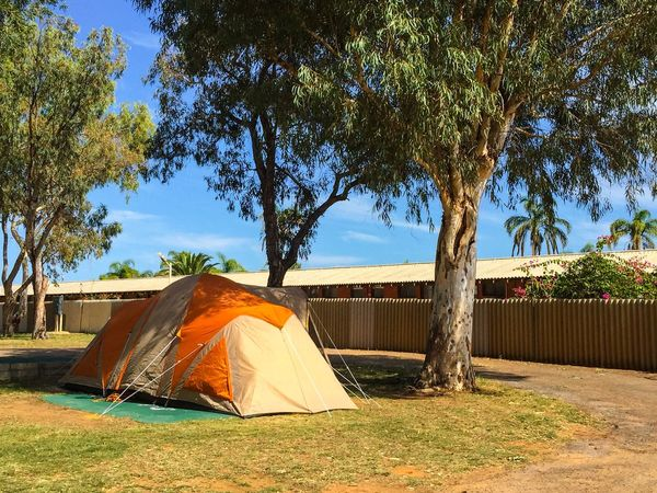 Camping Australia Australia Western Australia Campground Camping Tent Shelter Kalbarri Trees Outdoors Orange Traveling Travel Travel Photography Exploring The Essence Of Summer Holiday Vacation Adventure Camp Caravan Park Accomodation Backpacking Backpacker Cheap Room Lifestyle