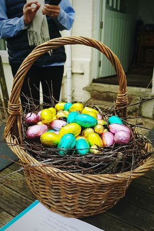 Inigma EyeEm Gallery Easter Easter Eggs Basket Easter Ready Egg Egg Basket Woven Chocolate Central Wicker Wicker Basket